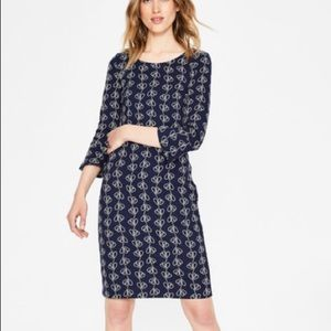 Boden Newlyn Jersey Jacquard Dress 10, NWT
